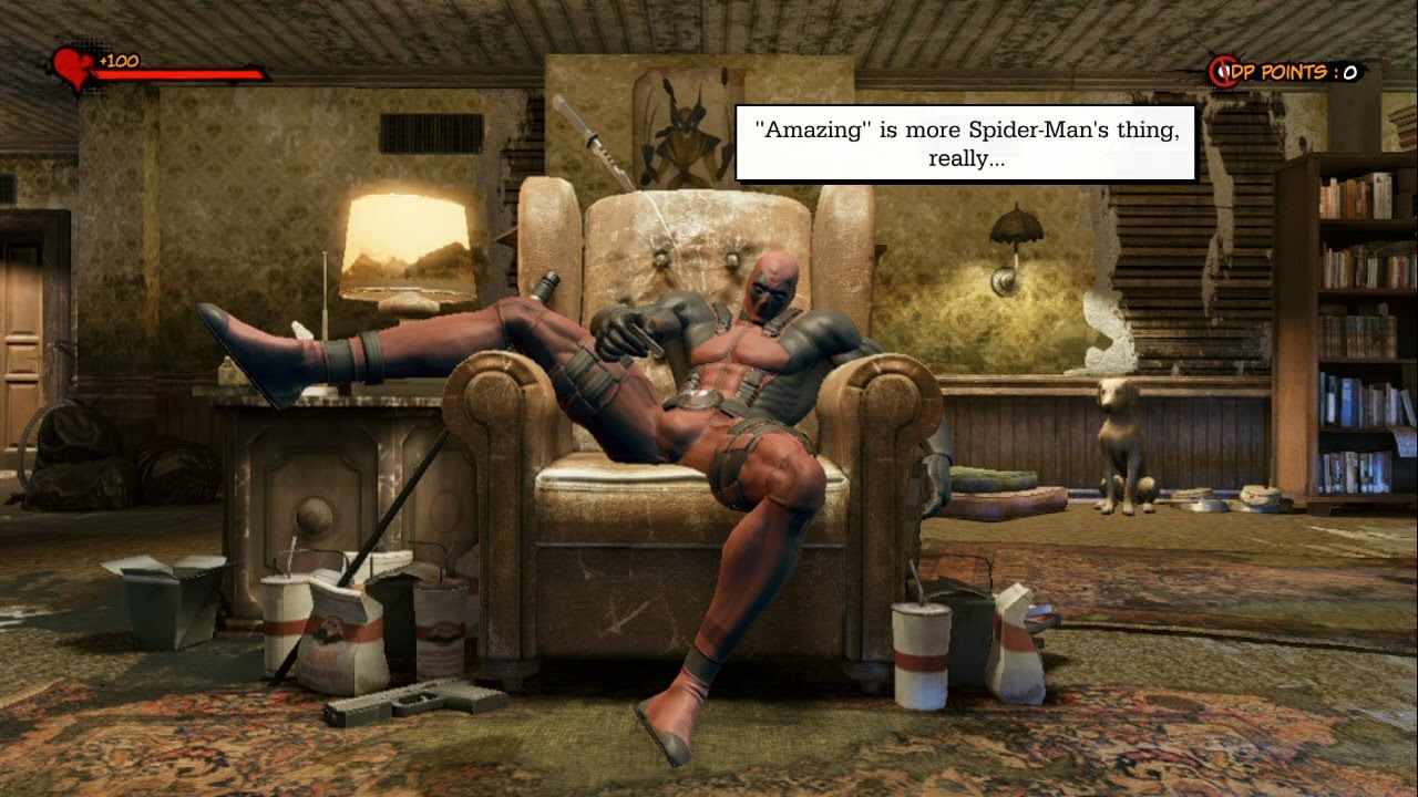 Deadpool bored at home Videogames Help You in Starting a Business