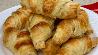 Butter Croissant Recipe With Homemade Puff Pastry کرسانت با خمیر هزارلا خانگی Croissant Bread