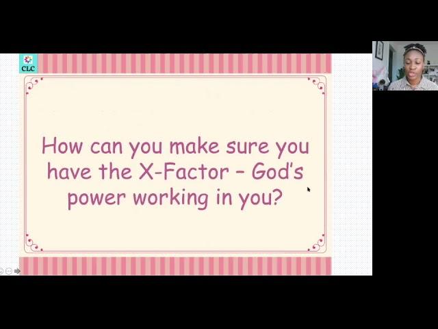 CLC Feb 2021 Meeting The X Factor