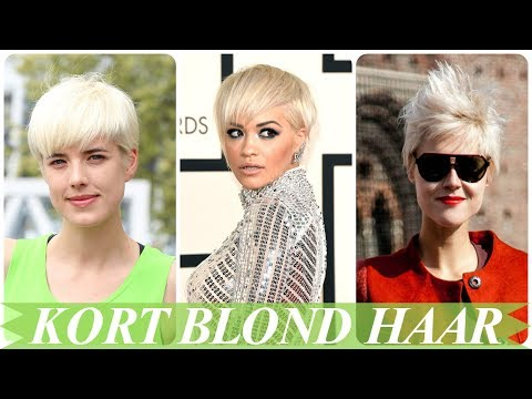 Hippe Blonde Korte Kapsels Dames