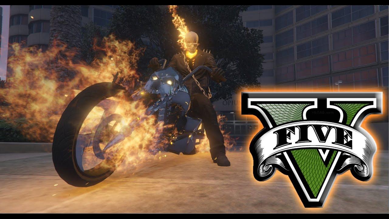 GTA X Scripting: GTA V - Ghost Rider mod by JulioNIB
