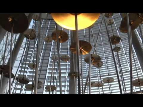 World Voices, Burj Khalifa Tower Lobby by Crystal Fountains - Dubai, UAE