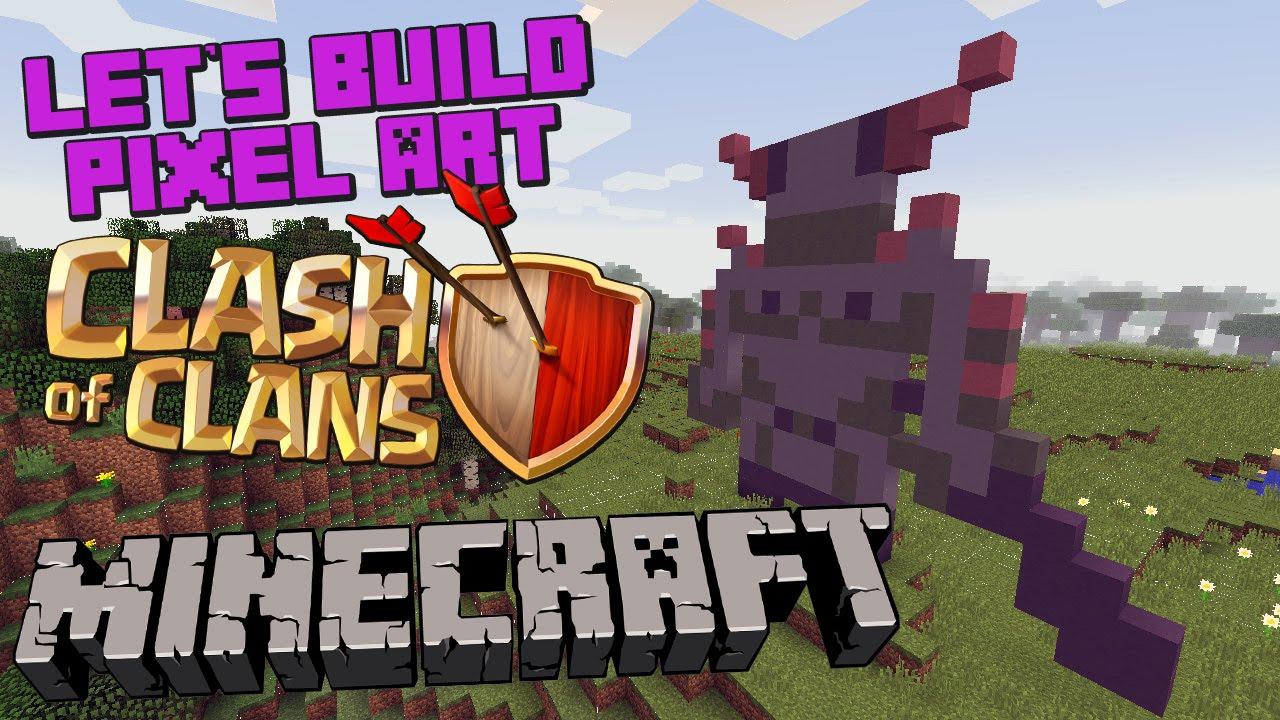 clash of clans pekka pixel art minecraft building idea youtube