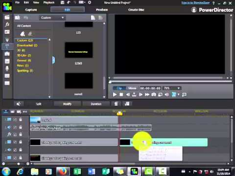 How to make text Karaoke slideshow beautiful with color in powerdirector 12