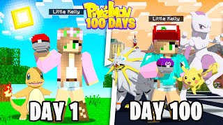 I Survived 100 Days in Minecraft Pixelmon ... Here's What Happened