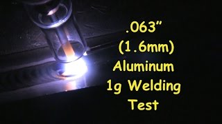 aluminum welding test tips 1g 063 1 6mm