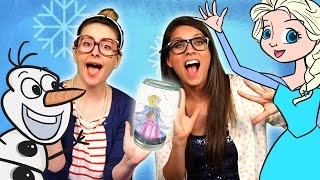 Frozen DIY Elsa & Anna Snow Globe Craft | Cool School Crafts with Crafty Carol & Ms. Booksy