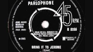 David John & The Mood (Joe Meek) - Bring It To Jerome - 1965 45rpm