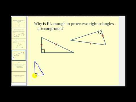 Hypotenuse - Leg Congruence Theorem