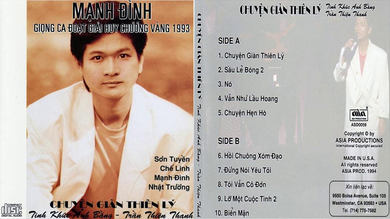 CD Mạnh Đình 1 – Chuyện Giàn Thiên Lý – Tình Khúc Anh Bằng & Trần Thiện Thanh [CD ASIA 59]