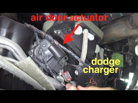 [blowing cold air, clicking noise] AIR door Actuator Replacement Dodge Charger√ Fix It Angel