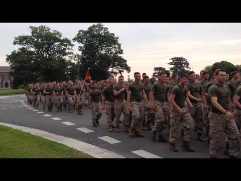 The 2nd Marine Division on a Division-Wide Three Mile Run
