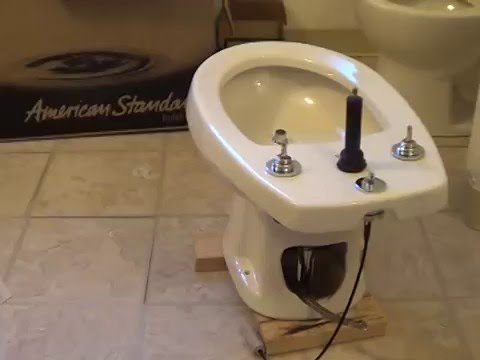 American Standard Bidet Install Part 4 Youtube