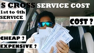 S CROSS SERVICE COST || 1st TO 4th SERVICE || DETAILED