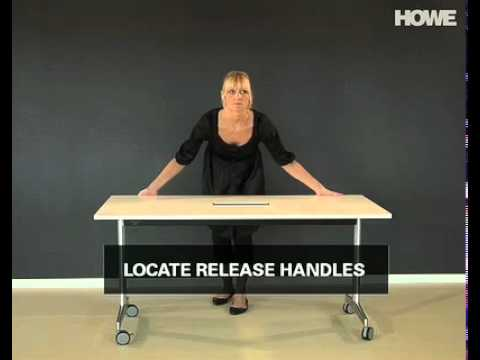 Moveo flip-top table with concealed power and data solution
