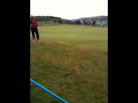 Simon Thornton Irish Open 2012 Portrush Day 3 15th hole 2nd