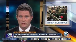 Jupiter keeps contract with Waste Management