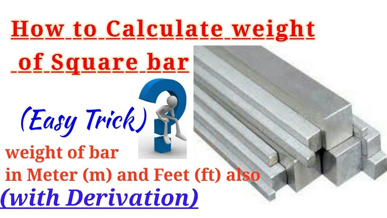 Hollow Square Bar Weight Calculator -