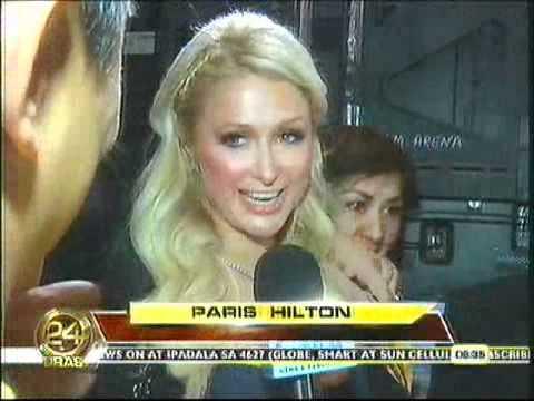 """Paris Hilton is a Manny """"Pacman"""" Pacquiao fan 24 0ras"""