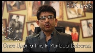 Once Upon A Time In Mumbaai Dobaraa Review | KRK Live |  Bollywood