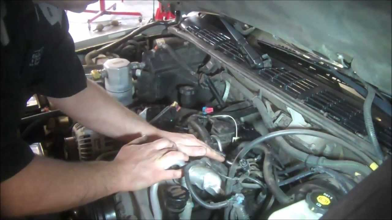 Port Fuel Injection Diagram Intake Manifold Removal Chevrolet S10 4 3l Part 1 Lower