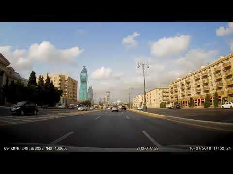 Видеорегистратор Viofo A129 Duo.  Передняя камера.  День.