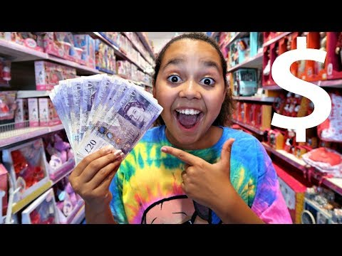 TIANA SPENDS £200 IN 10 MINUTES!  Toys Shopping Challenge