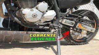 XRE 300 COMO AJUSTAR A CORRENTE DA MOTO