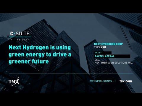 TSX Venture Exchange, Next Hydrogen Solutions Inc., C-Suite at The Open