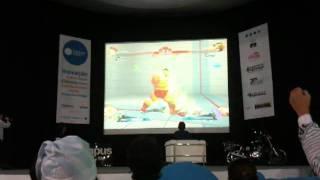 Final de Street Fighter na Campus Party Brasil 2012
