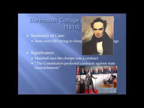 APUSH Reivew: Key Court Cases Under John Marshall