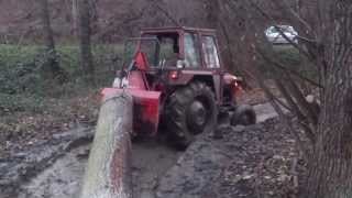 IMT 539 sa vitlom KRPAN 4t, izvlačenje drva u šumi po blatu