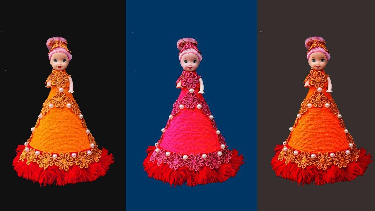 Doll Decoration ideas / Doll Dress Making Easy / DIY Craft