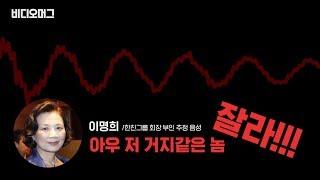 조현민母 이명희, 막말·욕설 음성 원본 공개/비디오머그