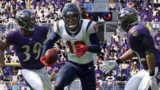 NFL Football 11/17 Baltimore Ravens vs Houston Texans Full Game | NFL Week 11 (Madden)
