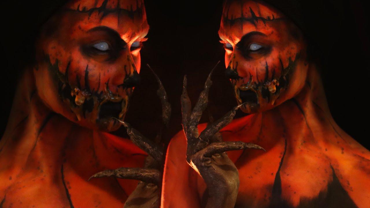 Pumpkin/Halloween Queen Makeup Tutorial (CC) - YouTube