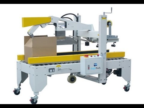 semi automatic carton sealing machine with automatic flap folding selladora de cajas youtube. Black Bedroom Furniture Sets. Home Design Ideas