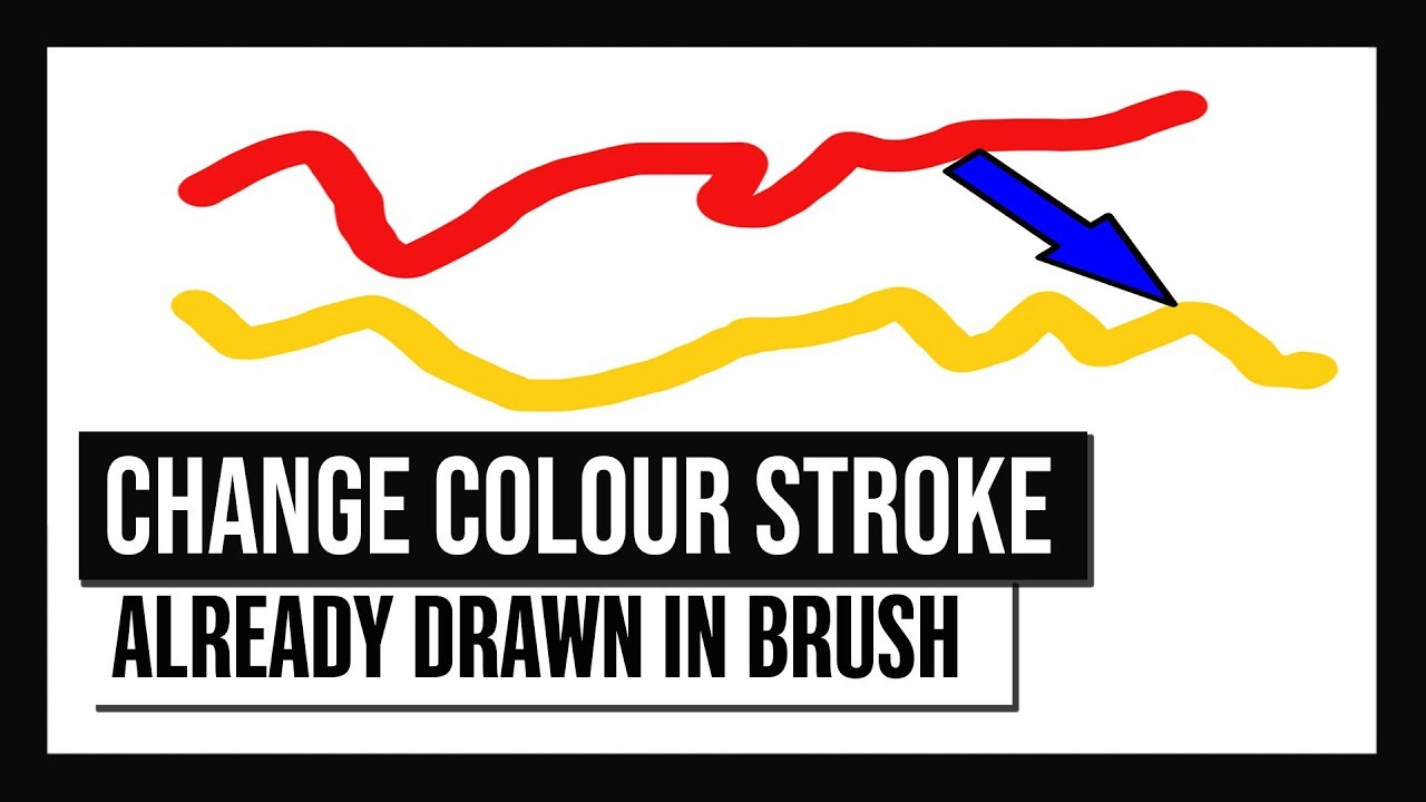 How To Change Color of A Brush Stroke After it's drawn in Photoshop CC  [2018]
