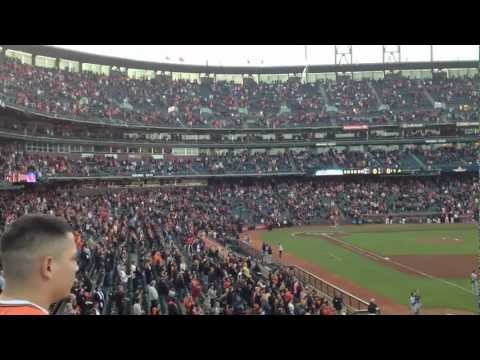 National Anthem San Francisco Giants vs. San Diego Padres AT & T Park April 27 2012