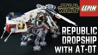 LEPIN Star Wars Republic Dropship with AT-OT Review FAKE LEGO (Bootleg)