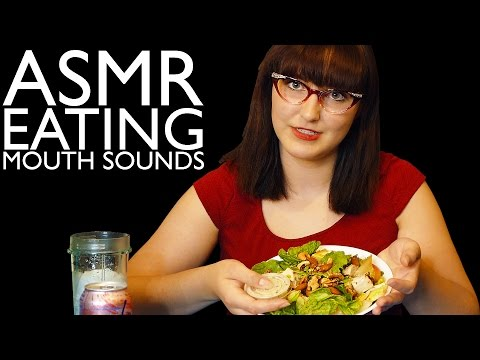 Ultra-Clear ASMR Eating Sounds! Mukbang Healthy Salad, Organic Cheesy Poofs & La Croix