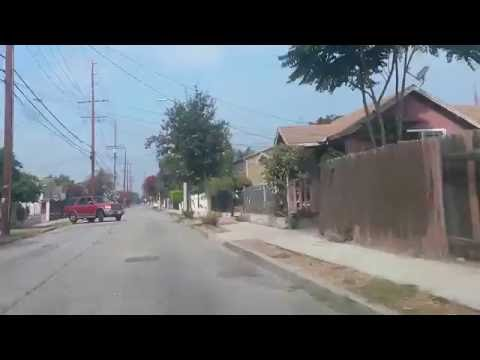 Driving in Watts, South Central LA / Watts Towers Art Center 2016