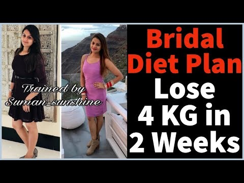 Bridal Diet Plan For Weight Loss & Glowing Skin | Wedding Diet Plan | How to Lose Weight Fast 4 KG