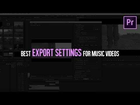 BEST EXPORT SETTINGS For Music s  Adobe Premiere Pro Tutorial