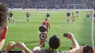 Neymar penalty, Brazil 2-0 Scotland