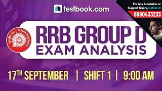 9:30 am | RRB Group D Analysis Shift 1 | Exam Review + Questions | RRB Group D 2018 Crash Course