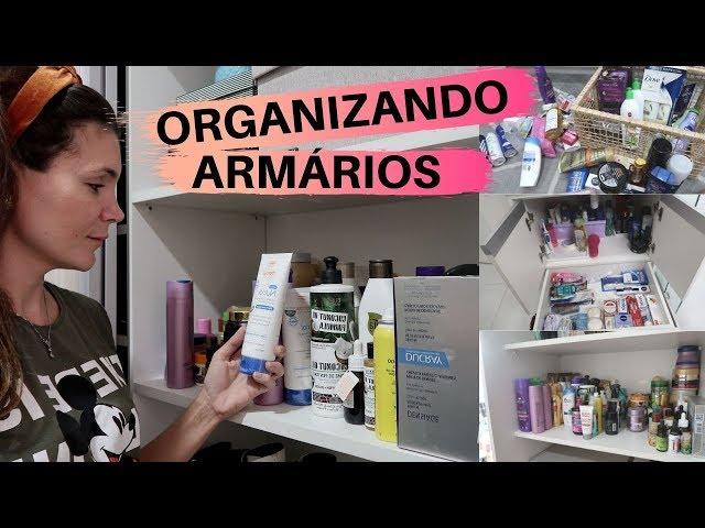 ORGANIZANDO ARMÁRIO DO BANHEIRO E ARMÁRIO DE PRODUTOS DO QUARTO - CHEGOU CARREGAMENTO DE PRODUTO