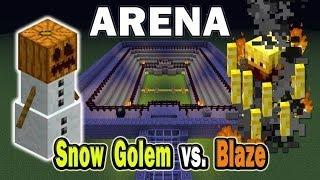 видео: Бои мобов MInecraft (Snowman vs Blaze ) № 2