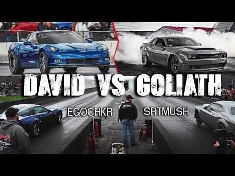 SrtMush's Dodge Demon vs Heads Cam Nitrous C6 Z06