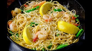 Iftar With Chef Stone Day 17 - Shrimp Scampi Pasta